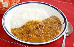 カボチャと小豆のこめ粉カレー