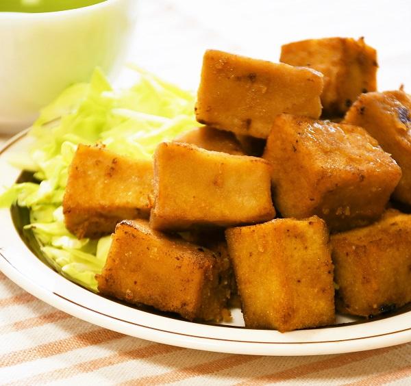 高野豆腐のこめ粉から揚げ