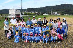稲井幼稚園と農事組合法人アスターファームの皆さん