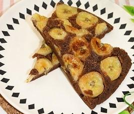 フライパンdeチョコバナナパンケーキ
